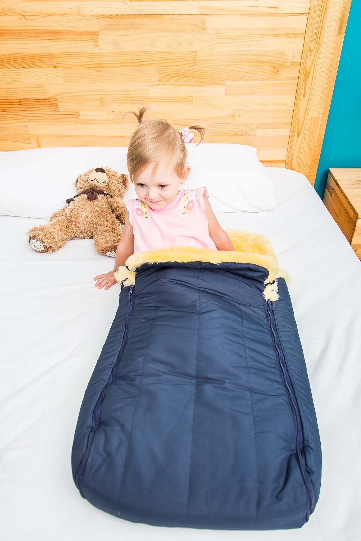 Sheepy Care Double Zippered Baby Sleeping Bag MDK011 Navy blue