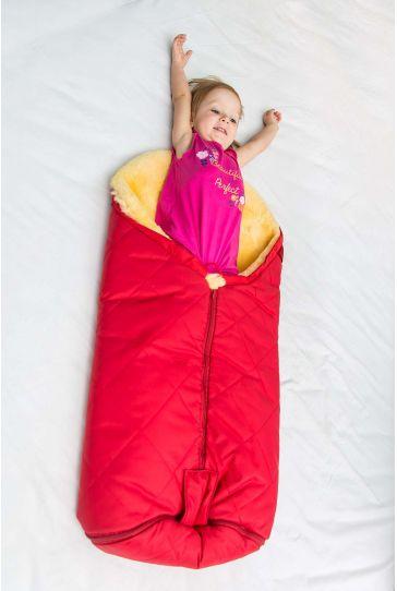 Sheepy Care Bebek Uyku Tulumu Tek Fermuarlı MDK013 Kırmızı