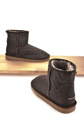 Cool Moon Women Boots From Genuine Sheepskin Fur 980188 Brown
