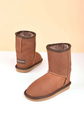 Cool Moon Classic Kids Boots From Genuine Fur Ginger
