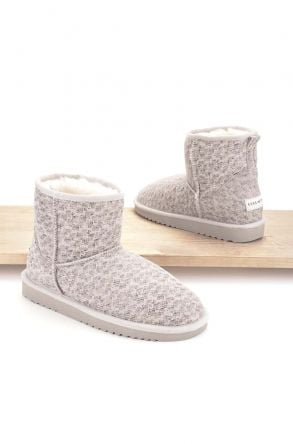 Cool Moon Women Boots From Genuine Sheepskin Fur 980107 Beige