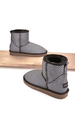 Cool Moon Women Boots From Genuine Sheepskin Fur 980240 Gray