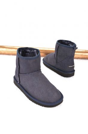 Cool Moon Women Boots From Genuine Sheepskin Fur 980268 Navy blue