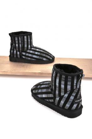 Cool Moon Women Boots From Genuine Sheepskin Fur 980277 Gray