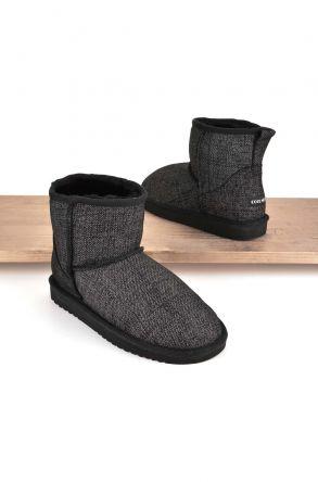 Cool Moon Women Boots From Genuine Sheepskin Fur 980321 Gray