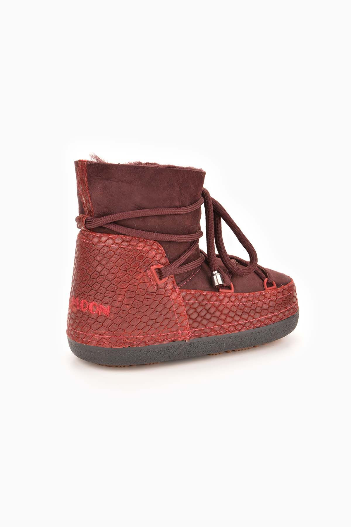 Cool Moon Moonboots From Genuine Sheepskin 251010 Claret red
