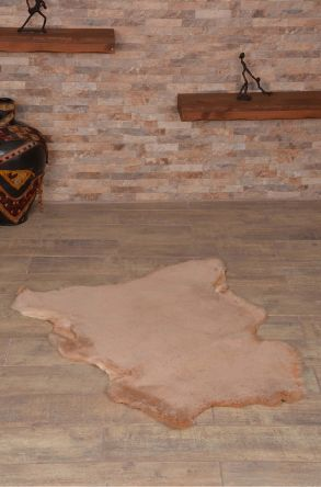 Erdogan Deri Decorative Sheepskin Rug Mustard