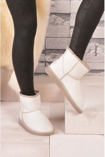 Cool Moon Women Boots From Genuine Fur White