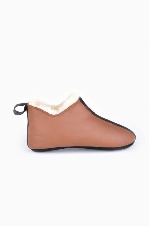 Pegia Kids House-Shoes From Genuine Fur Brown