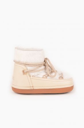 Ponche Moonboots From Genuine Sheepskin With Toscana Fur P351005 Beige