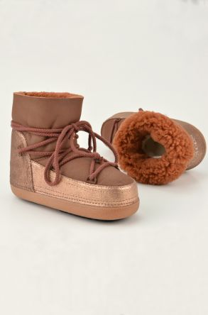 Cool Moon Moonboots From Genuine Sheepskin 251012 Ginger