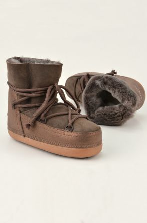 Cool Moon Moonboots From Genuine Sheepskin 251012 Visone
