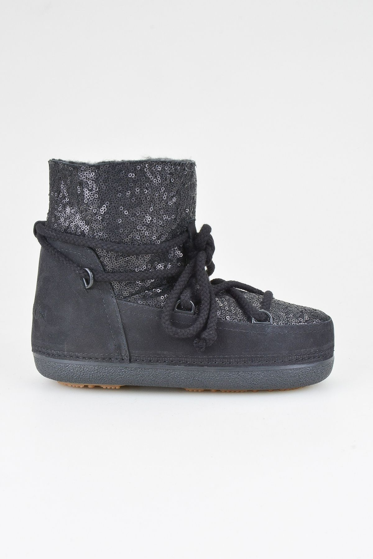 Cool Moon Women Snowboots From Genuine Fur With Sequins 251004 Black