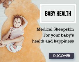 Medical sheepskin baby bags