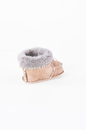 Pegia Shearling Baby's Bootie 141009 Sand-colored