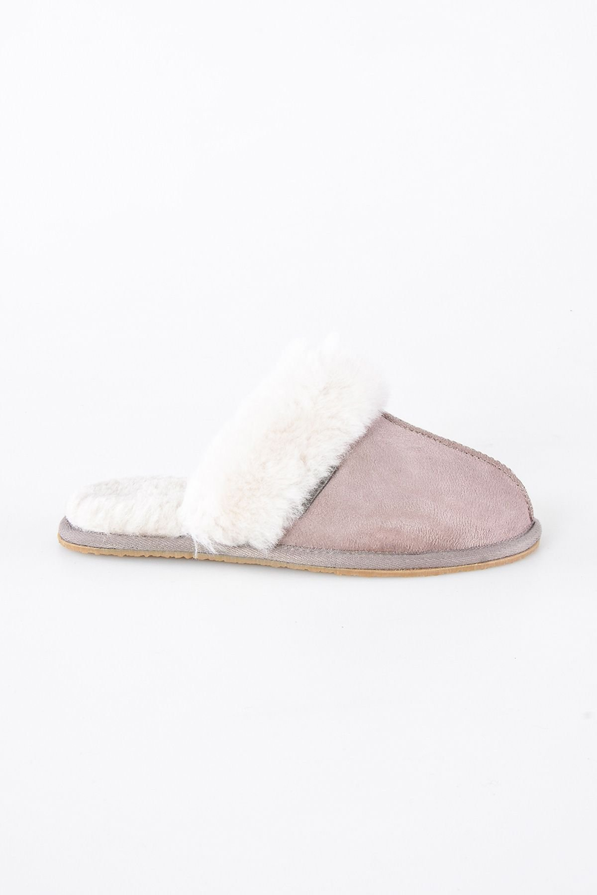 Pegia Women House Slippers From Genuine Suede And Sheepskin Powdery
