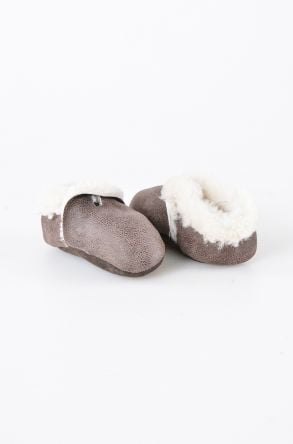 Pegia Shearling Baby's Bootie 143004 Dark Brown