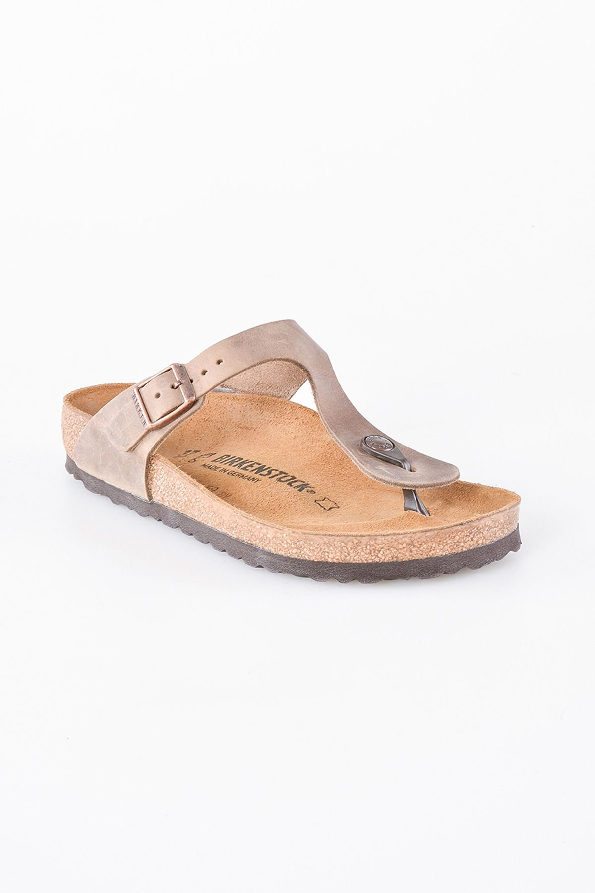 Birkenstock Gizeh BS Genuine Leather Women's Summer Slippers 0943811 Ginger