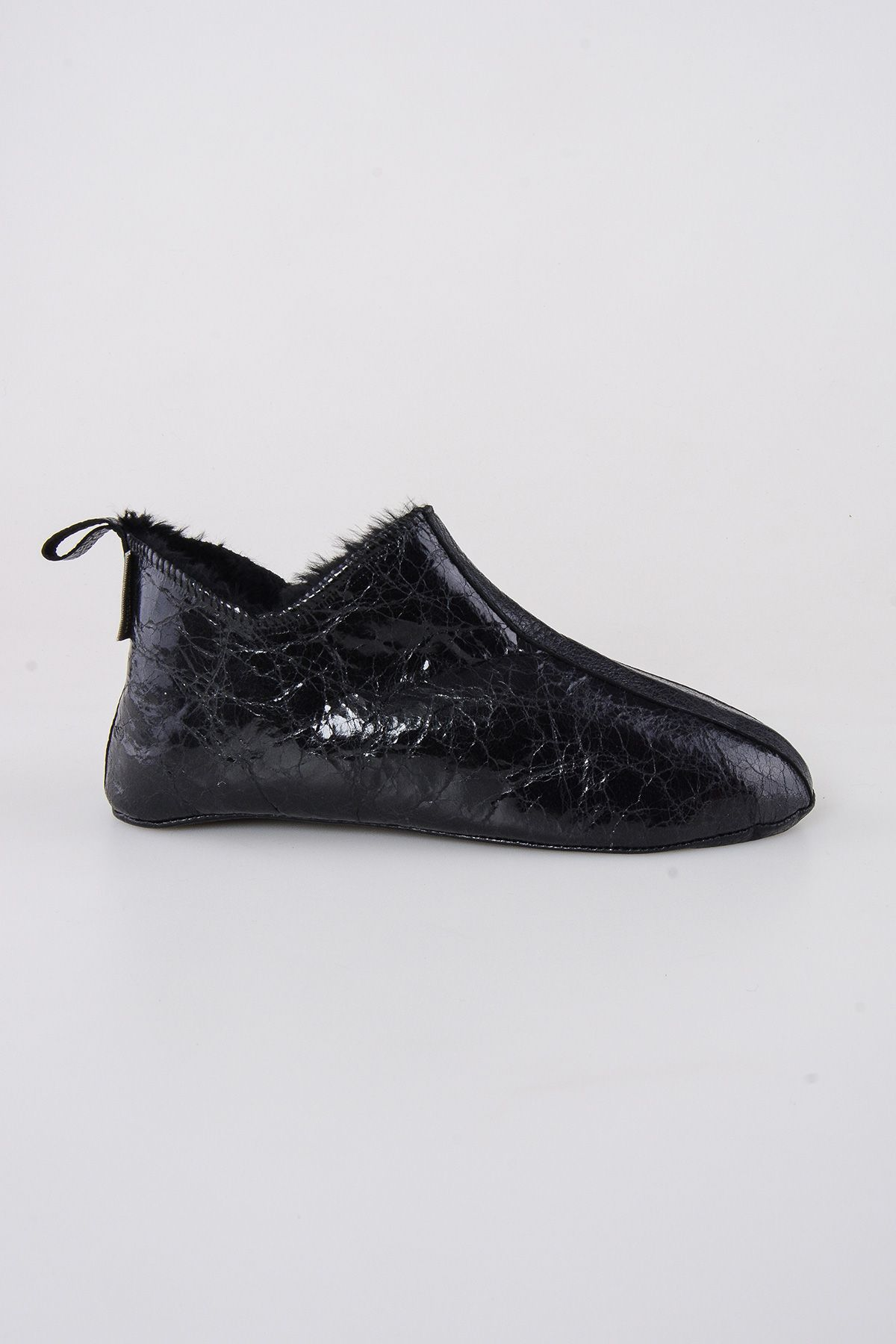 Pegia Shearling Men's House Shoes 111008 Black