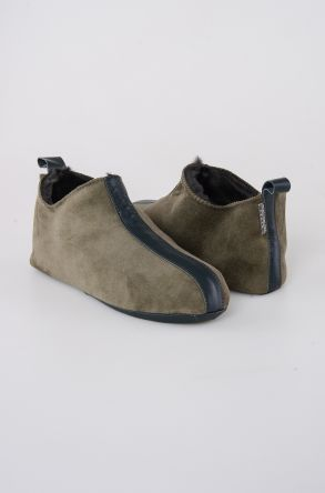 Pegia Shearling Men's House Shoes 111008 Khaki