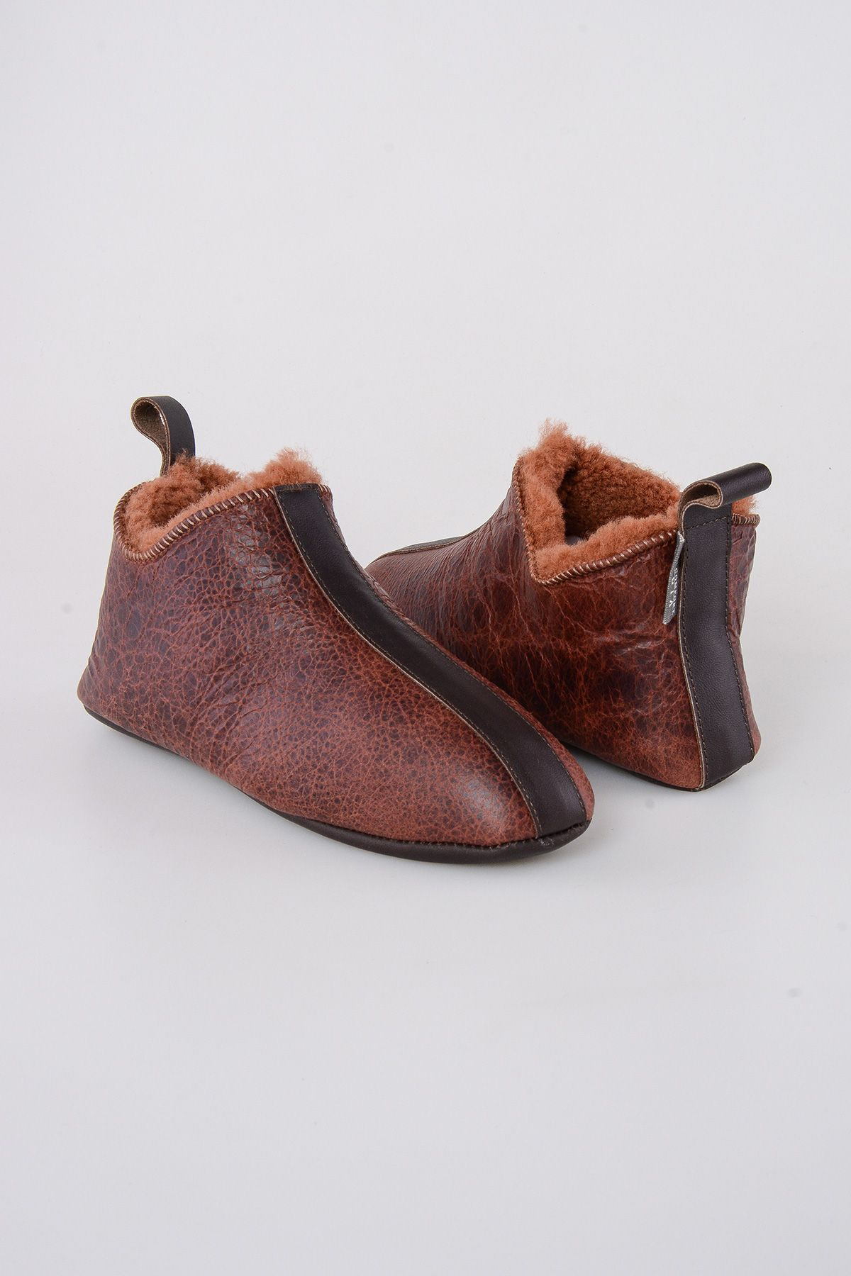 Pegia Shearling Men's House Shoes 111008 Ginger