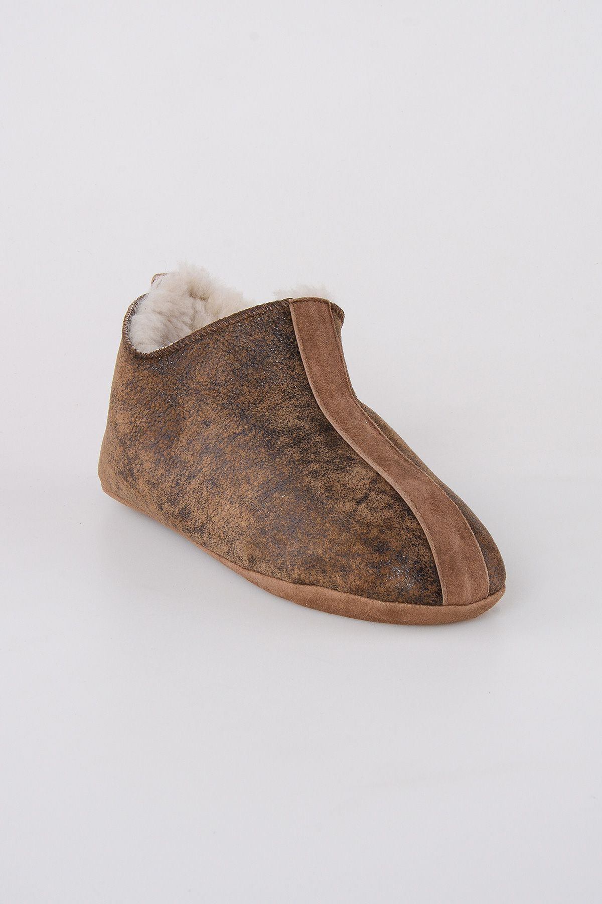 Pegia Shearling Men's House Shoes 111008 Brown