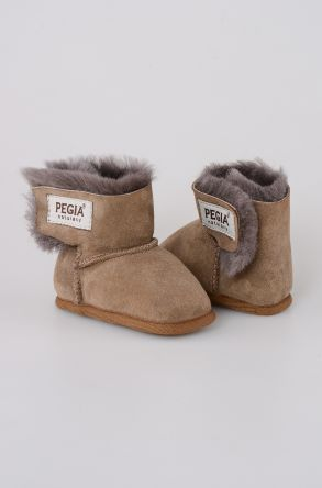 Pegia Shearling Baby's Bootie 143005 Sand-colored