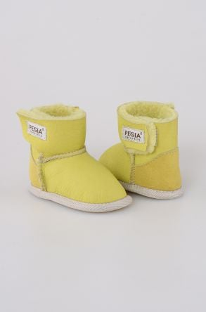 Pegia Shearling Baby's Bootie 143005 Light Green