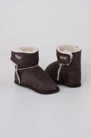 Pegia Shearling Baby's Bootie 143005 Dark Brown