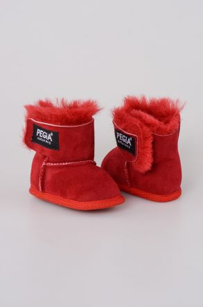 Pegia Shearling Baby's Bootie 143005 Red