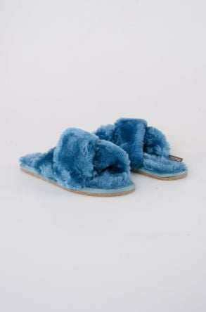 Pegia Women's Shearling Slippers 191096 Aqua