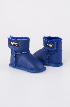 Pegia Shearling Baby's Bootie 143005 Navy blue