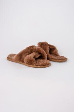 Pegia Женская Домашняя Обувь Из Натурального Овечьего Меха 191096 Рыжий