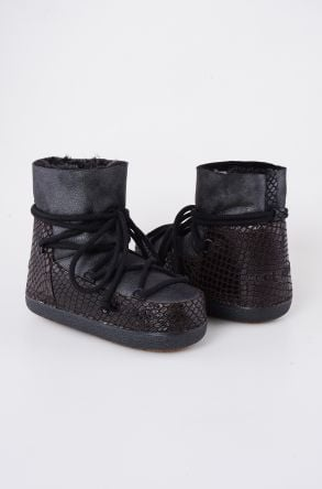 Cool Moon Moonboots From Genuine Sheepskin 251010 Black