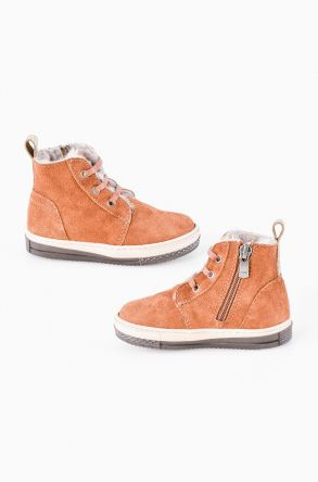 Pegia Genuine Suede & Shearling Baby's Boots 186001 Ginger