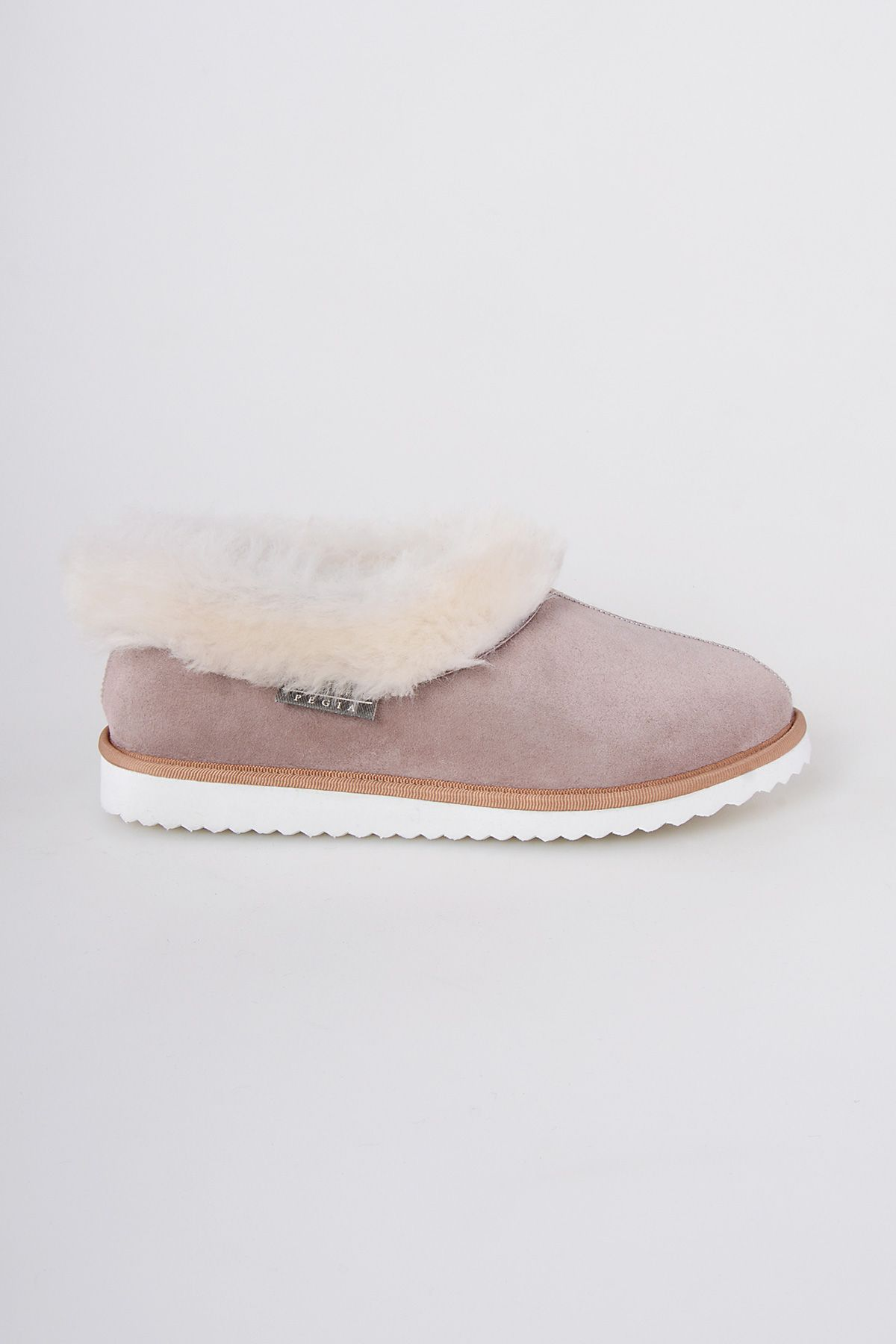 Pegia Genuine Suede & Shealing Women's House Shoes 191100 Powdery