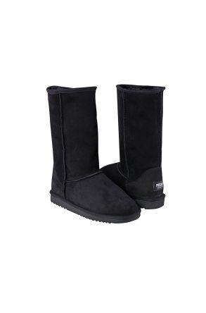 Pegia Long Genuine Suede & Shearling Women's Boots 191001 Black