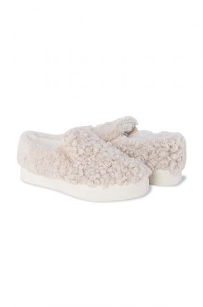 Pegia Women Sneakers From Genuine Fur 659524 Beige