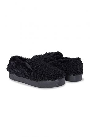 Pegia Women Sneakers From Genuine Fur 659524 Black