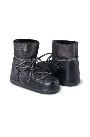 Cool Moon Genuine Shearling Glamour Snowboots 351007 Black