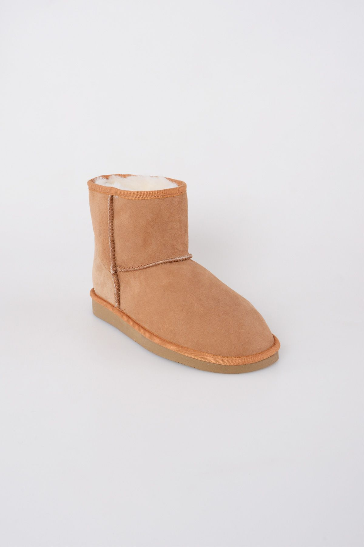 Pegia Genuine Suede & Shearling Short Women's Boots 980406 Ginger