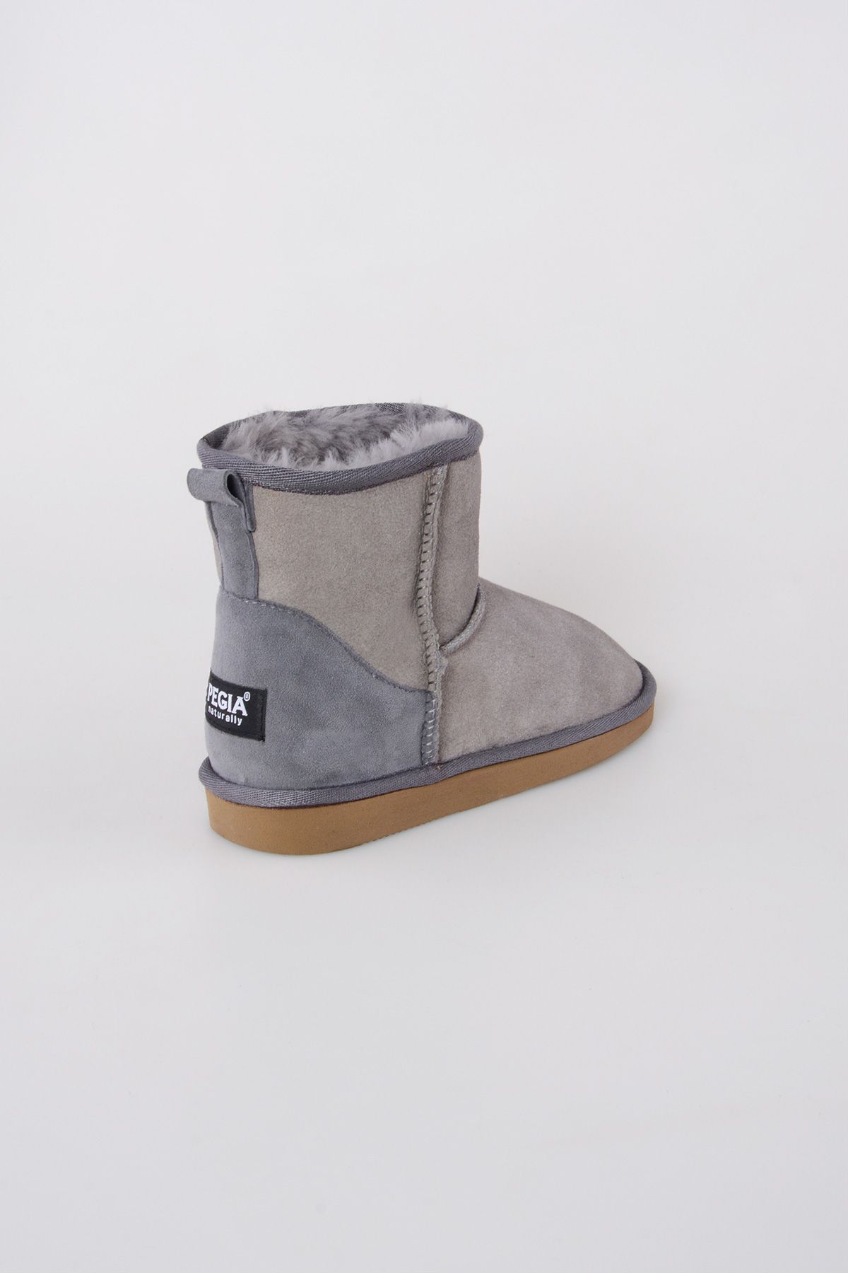 Pegia Genuine Suede & Shearling Short Women's Boots 980406 Gray