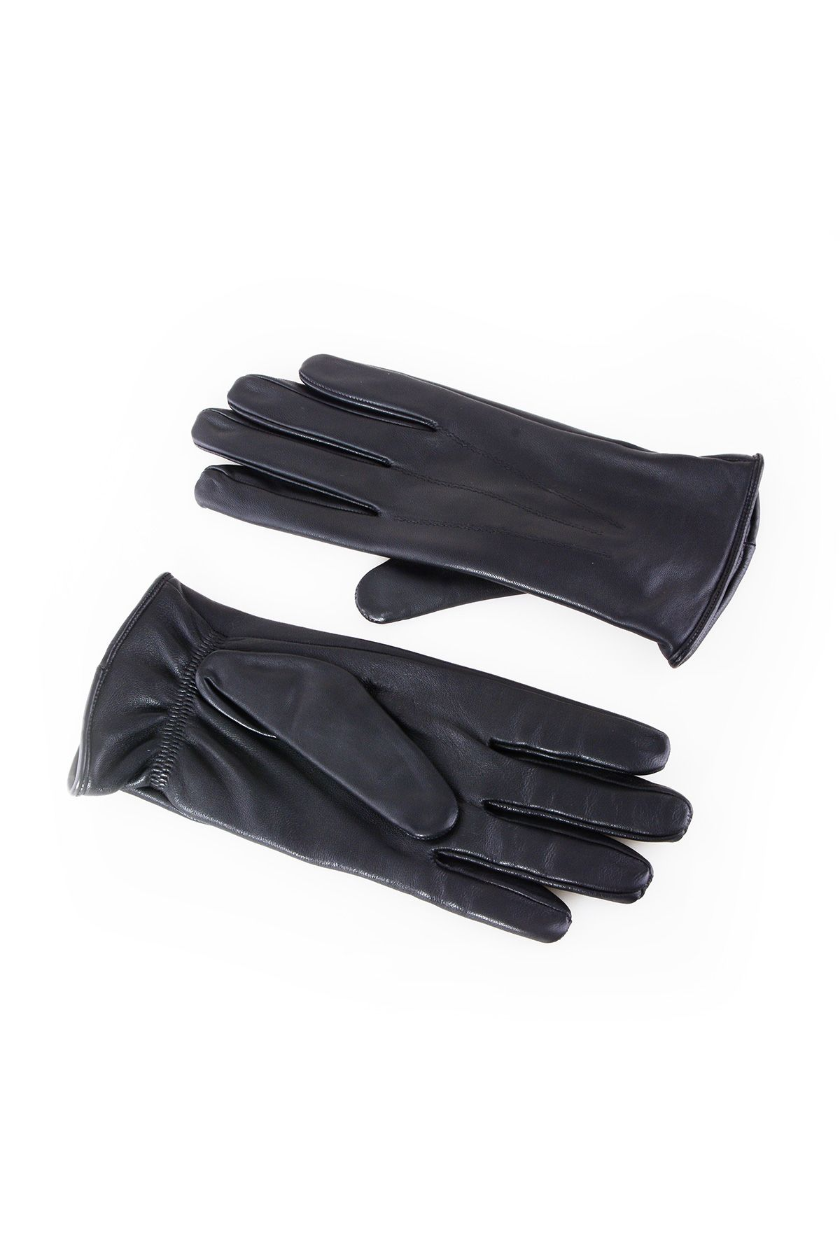 Pegia Men's Classic Leather Gloves 19EE01 Black