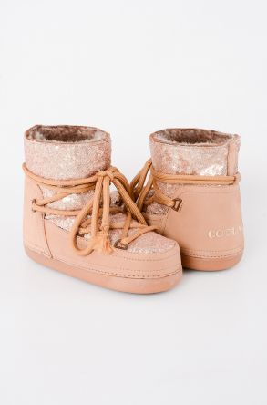 Cool Moon Women Snowboots From Genuine Fur With Sequins 251004 Light Brown