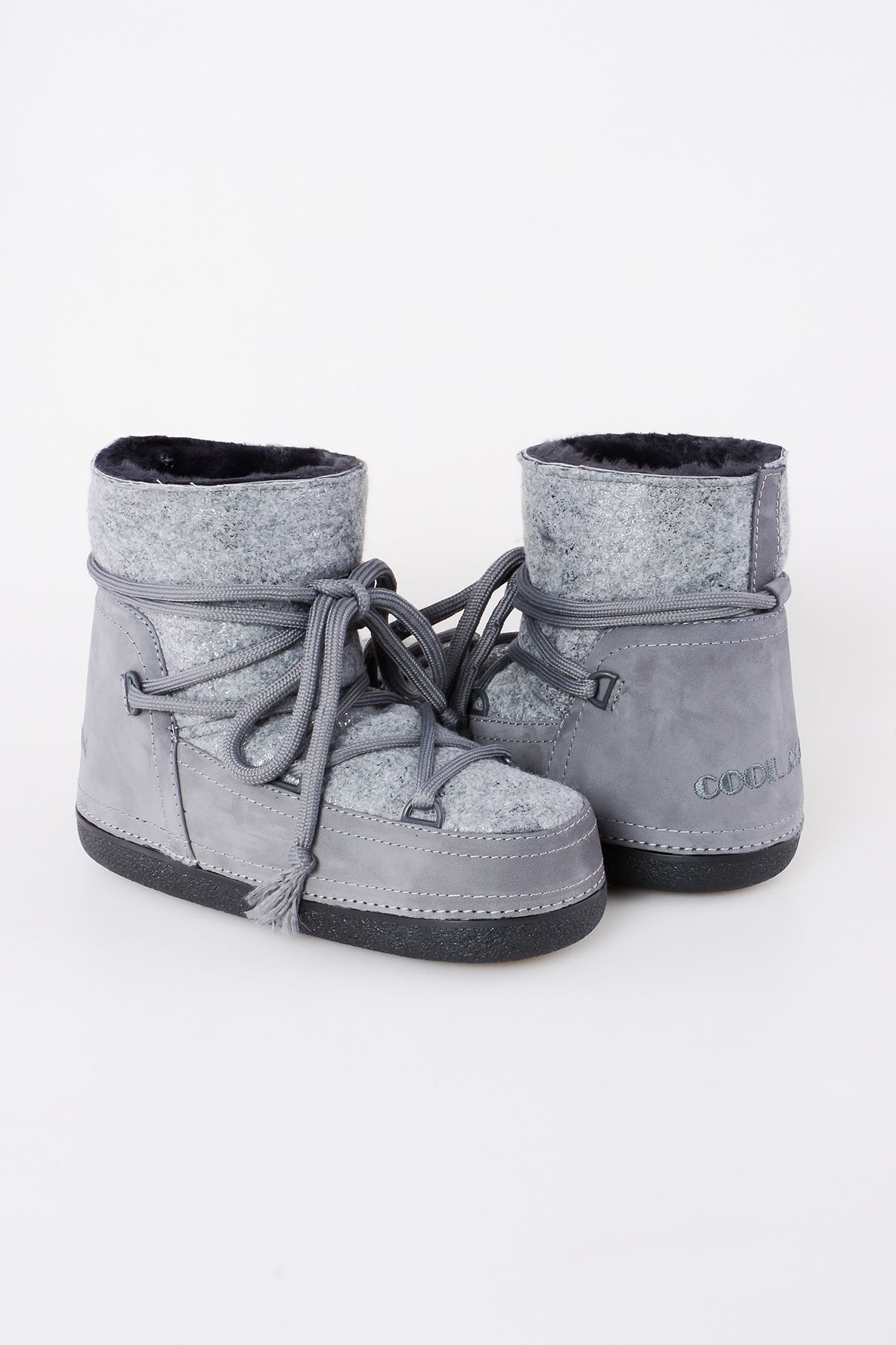 Cool Moon Genuine Shearling & Cashmere Women's Snowboots 251015 Gray