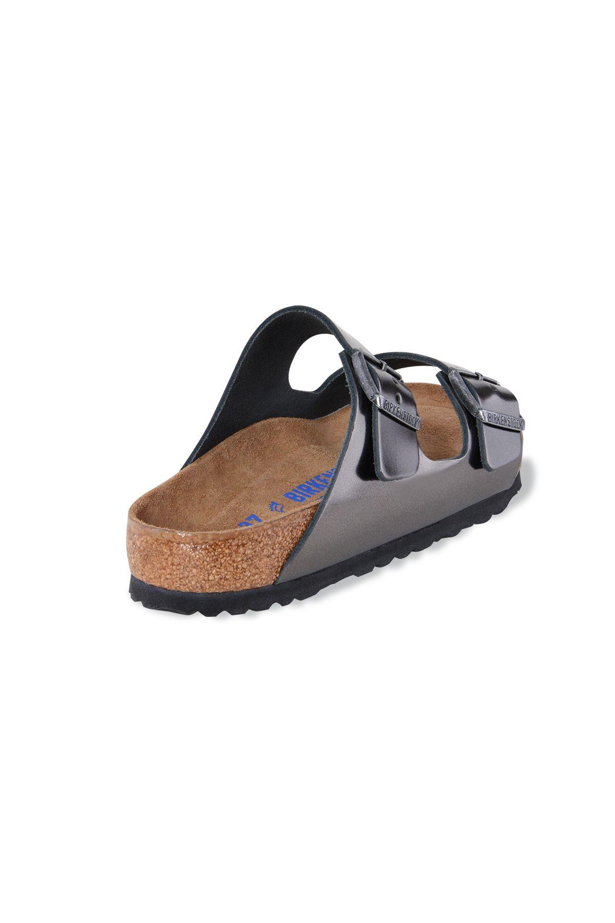 Birkenstock Gizeh BS Genuine Leather Women's Summer Slippers 1000292 Silver