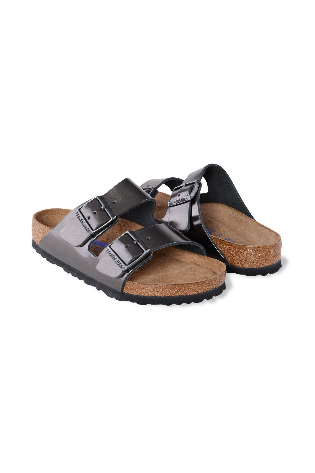 Birkenstock Gizeh BS Genuine Leather Women's Summer Slippers 1000292 Silver