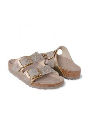 Birkenstock Arizona BS Genuine Leather Women's Summer Slippers 1009934 Golden