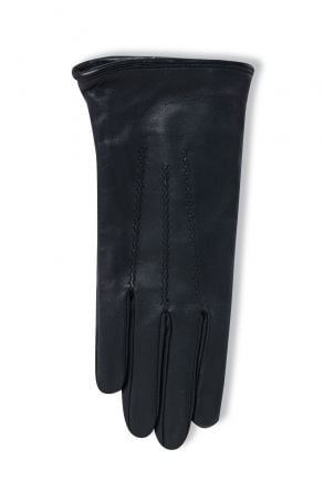 Pegia Women's Classic Leather Gloves 19EK01 Black