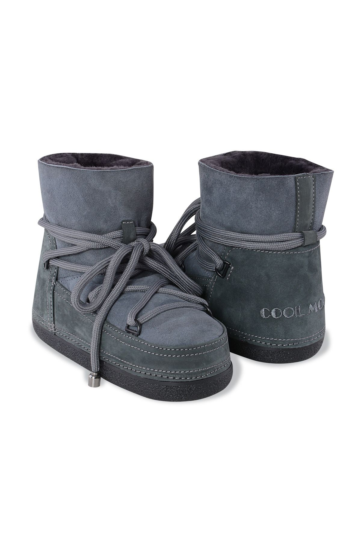 Cool Moon Genuine Suede & Shearling Women's Snowboots 251017 Gray